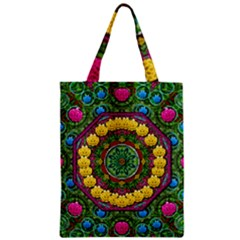 Bohemian Chic In Fantasy Style Zipper Classic Tote Bag by pepitasart