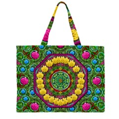 Bohemian Chic In Fantasy Style Zipper Large Tote Bag by pepitasart