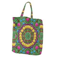 Bohemian Chic In Fantasy Style Giant Grocery Zipper Tote by pepitasart