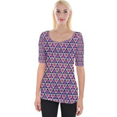 Snowflake And Crystal Shapes 5 Wide Neckline Tee