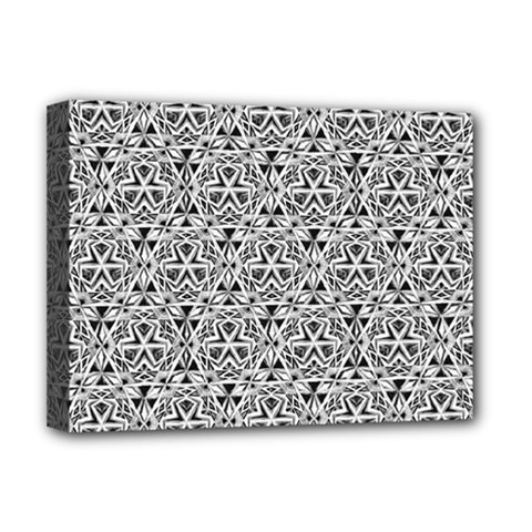 Hand Drawing Tribal Black White Deluxe Canvas 16  X 12   by Cveti