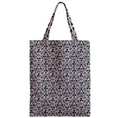 Hand Drawing Tribal Black White Zipper Classic Tote Bag by Cveti