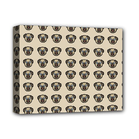 Puppy Dog Pug Pup Graphic Deluxe Canvas 14  X 11  by Celenk