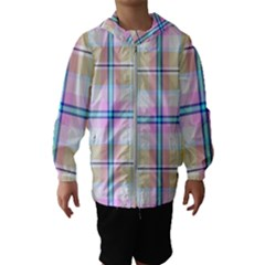 Pink And Yellow Plaid Hooded Wind Breaker (kids) by allthingseveryone