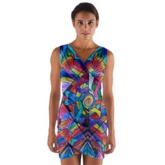 Come Together   Wrap Front Bodycon Dress by tealswan