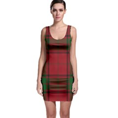 Red And Green Tartan Plaid Bodycon Dress by allthingseveryone