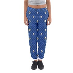 Funny Little Skull Pattern, Blue Women s Jogger Sweatpants by MoreColorsinLife