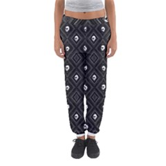Funny Little Skull Pattern, B&w Women s Jogger Sweatpants by MoreColorsinLife