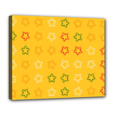 Spray Stars Pattern B Deluxe Canvas 24  X 20   by MoreColorsinLife