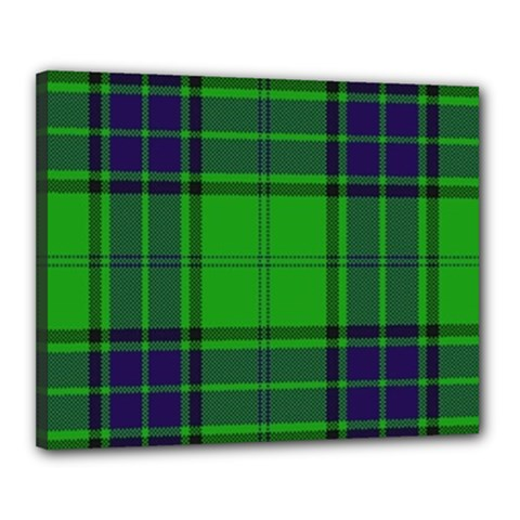 Green And Blue Plaid Canvas 20  X 16  by allthingseveryone