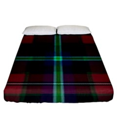 Purple And Red Tartan Plaid Fitted Sheet (king Size) by allthingseveryone
