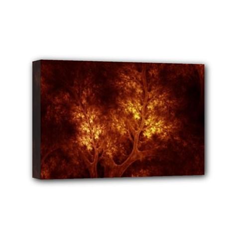 Artsy Brown Trees Mini Canvas 6  X 4  by allthingseveryone