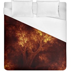 Artsy Brown Trees Duvet Cover (king Size) by allthingseveryone