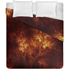 Artsy Brown Trees Duvet Cover Double Side (california King Size) by allthingseveryone