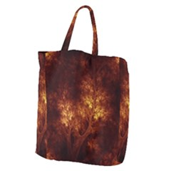 Artsy Brown Trees Giant Grocery Zipper Tote by allthingseveryone
