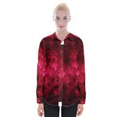 Artsy Red Trees Womens Long Sleeve Shirt by allthingseveryone