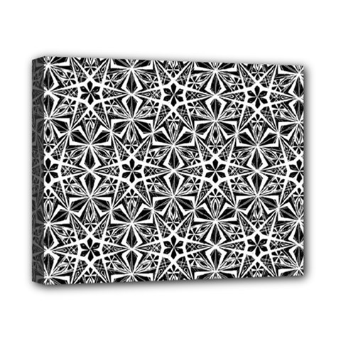 Star With Twelve Rays Pattern Black White Canvas 10  X 8  by Cveti