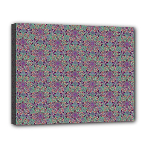 Flower Kaleidoscope Hand Drawing 2 Canvas 14  X 11  by Cveti