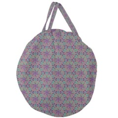 Flower Kaleidoscope Hand Drawing 2 Giant Round Zipper Tote by Cveti