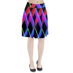 Xmas Light Paintings Pleated Skirt by Celenk