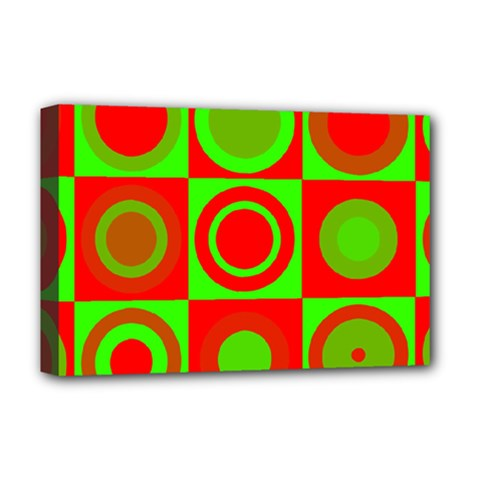 Redg Reen Christmas Background Deluxe Canvas 18  X 12   by Celenk