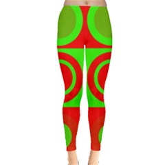 Redg Reen Christmas Background Leggings  by Celenk