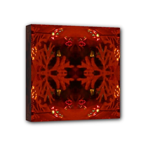 Red Abstract Mini Canvas 4  X 4  by Celenk