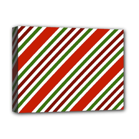 Christmas Color Stripes Deluxe Canvas 16  X 12   by Celenk