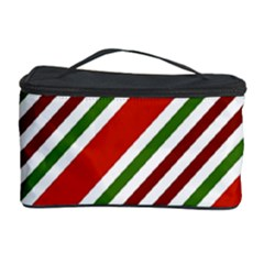 Christmas Color Stripes Cosmetic Storage Case by Celenk