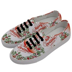 Merry Christmas Wreath Men s Classic Low Top Sneakers by Celenk