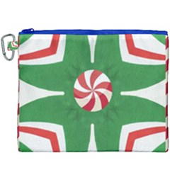 Candy Cane Kaleidoscope Canvas Cosmetic Bag (xxxl) by Celenk