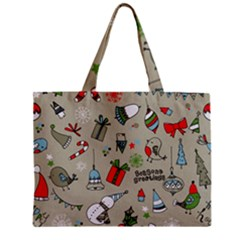 Beautiful Design Christmas Seamless Pattern Zipper Mini Tote Bag by Celenk