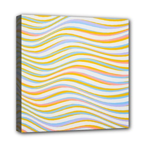 Art Abstract Colorful Colors Mini Canvas 8  X 8  by Celenk