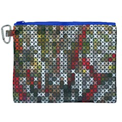 Christmas Cross Stitch Background Canvas Cosmetic Bag (xxl) by Celenk