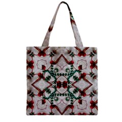Christmas Paper Zipper Grocery Tote Bag by Celenk