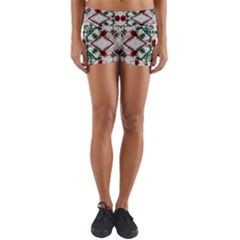 Christmas Paper Yoga Shorts by Celenk
