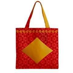 Christmas Card Pattern Background Zipper Grocery Tote Bag by Celenk
