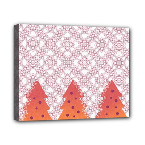 Christmas Card Elegant Canvas 10  X 8  by Celenk