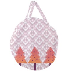 Christmas Card Elegant Giant Round Zipper Tote by Celenk