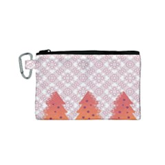 Christmas Card Elegant Canvas Cosmetic Bag (small) by Celenk