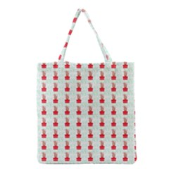 At On Christmas Present Background Grocery Tote Bag by Celenk