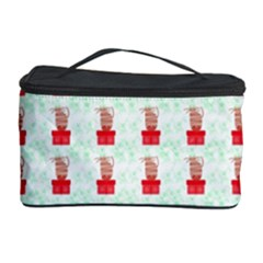 At On Christmas Present Background Cosmetic Storage Case by Celenk