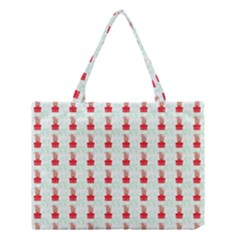 At On Christmas Present Background Medium Tote Bag by Celenk