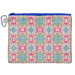 Christmas Wallpaper Canvas Cosmetic Bag (xxl) by Celenk