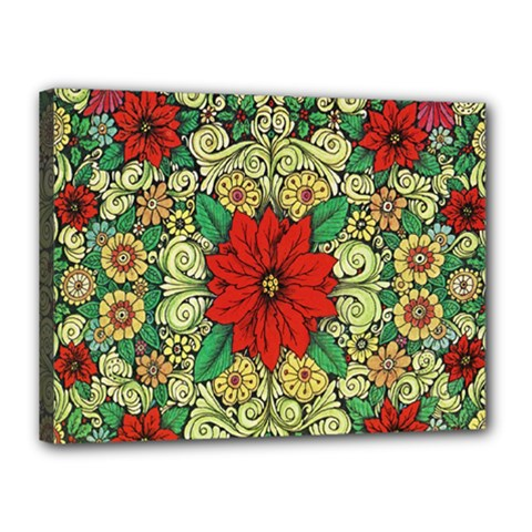 Calsidyrose Groovy Christmas Canvas 16  X 12  by Celenk