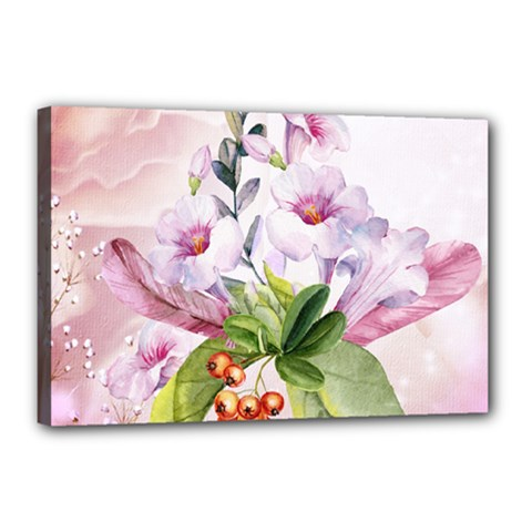 Wonderful Flowers, Soft Colors, Watercolor Canvas 18  X 12  by FantasyWorld7