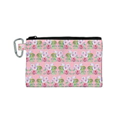 Floral Pattern Canvas Cosmetic Bag (small) by SuperPatterns