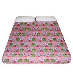 Floral Pattern Fitted Sheet (king Size) by SuperPatterns