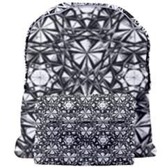 Star Crystal Black White 1 And 2 Giant Full Print Backpack