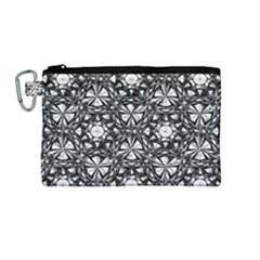 Star Crystal Black White 1 And 2 Canvas Cosmetic Bag (medium)